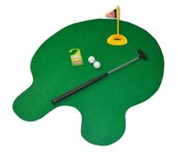 Wholesale Bathroom Golf Game - Wholesale bathroom funnyy mini Golf ball set Perfect Toilet golf putting game for men and women