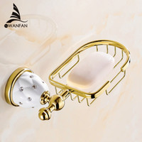 Wholesale Golden Bathroom Accessories - New Golden Finish Brass Flexible Soap Basket  Soap Dish Soap Holder  Bathroom Accessories,Bathroom Furniture Toilet Vanity 5206