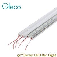 Cheap corner led profile - 5PCS DC12V Wall corner LED Bar Light 5730 36 LED 50CM V shape Aluminum Profile 5730 5630 LED Hard Rigid Strip Light Cabinet Lamp