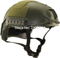 Wholesale Tactical Base Jump Fast Helmet - Wholesale-Fast MH Simple Tactical Airsoft Base Jump Helmet Outdoor Cycling Hunting Army Military CS Protective Helmet Without Hole