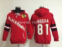 Wholesale Cheap Women S Hoodies - 2014 Women Fashion Chicago Blackhawks #81 Marian Hossa Ice Hockey Hoodie Red,Stitched Logo,S,M,L,XL,XXL,Cheap Wholesale