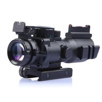 Tactical Scope 4x32 Sniper Red Dot Sight Airsoft Rifle Vision Hunting Scopes Riflescope Nuit Mini Scope pour tournage de Chasse