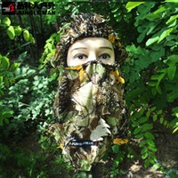 Wholesale Camouflage For Hunting - 3D Hunting Hunter Camouflage Camo Headgear Balaclava Face Mask for Hunting Fishing Adjust Free Shipping