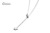Wholesale Cute Korean Silver Jewelry - New arrivals simple korean cute star infinite necklace for women gifts wholesale fashion women accessories stainless steel jewelry 2017
