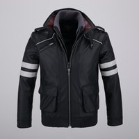 Wholesale Alex Mercer Prototype Jacket - Fall-Cool Mens Detachable Double-layer Collar Prototype Alex Mercer Short Jackets Outwear with Embroidery Pattern High Quality