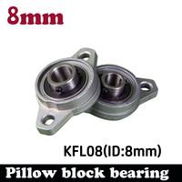 Wholesale Linear Blocks - Wholesale- 1 pcs KFL08 FL08 flange bearing with pillow block 8mm caliber Zinc Alloy Pillow Block Bearing for 8mm linear guide