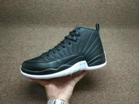 Wholesale Inside Sole - retro 12 Nylon Neoprene black white 2016 men Basketball shoes sneakers inside air cushion sole carbon fiber Original Factory Quality Version