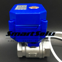 "Wholesale Stainless Electric Ball Valve - 5 Wires (CR05) BSP 1 2"" Stainless Steel Electric Water Valve DC12V DN15 Motorized Ball Valve With Signal Feedback"