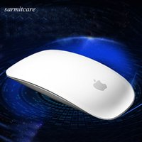 Wholesale Mouse For Apple - USB or Bluetooth Mouse Ultra Thin 2.4G Mini Wireless Mouse Touch Magic Mouse Receiver For Apple and Others With Retail Package