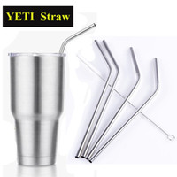 Wholesale Drinking Set - for YETI Straw 304 Stainless Steel Straw Metal Drinking Straw Cleaning Brush Set Retail Kit for Yeti Tumbler Rambler Cups OTH286