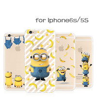 Wholesale Despicable Phone Case Cover - Cute Cartoon Minions Despicable Me Coque Transparent TPU Cover Clear Ultra Thin Soft Phone Case For iPhone 5 5S SE 6 6S Plus