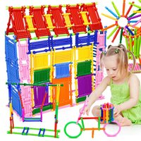 Kids Building Blocks Sticks Multicolor Plastic Assemble Educational Puzzle Toy 250pcs Handmade DIY kids Early Learning Gifts