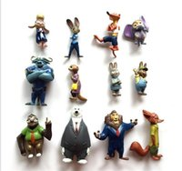 Wholesale New Crazy animal City toys Children cartoon Nick Wilde Judy Hopps minifigure Action Figures toys Dolls in High quality