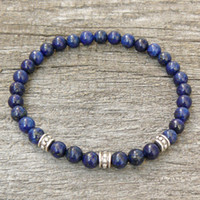 Wholesale Gemstone Tiger Eye - Lapis Lazuli Bracelet, Womens or Mens Bracelet, Natural Gemstone Stretch Bracelet, Tigers Eye, Beaded Jewelry, Women bracelet, Men Bracelet