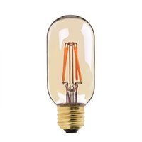 Wholesale T45 Vintage - 4W,Vintage LED Filament Bulb,Gold Tint,Edison T45 Tubular Style,E26 E27 Base,Decorative For Pendant lights,Dimmable