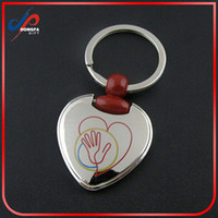 Wholesale Metal Shaped Keychain - Wedding Gift Cheap Customized Metal Keychain Heart Shaped Alloy Keyring Smart Key Chains for Wholesale