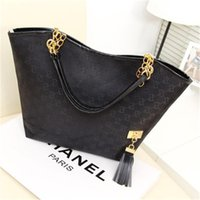 Wholesale Ladies Fringed Handbags - Women Shoulder Bags New High Quality Canvas Chain Fashion Casual Handbag Fringed Decoration Single Chain Bag Wholesale Letter Bags