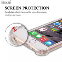 Wholesale Cushion S - Air Cushion Shockproof Clear Soft Silicone TPU Anti Knock Transparent Crystal Rubber Full Protective Cover Case For iPhone X 8 7 Plus 6 S 5S