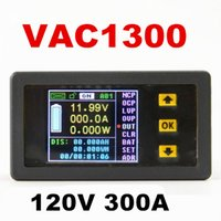 Wholesale Electrical Parameter - 120V 300A Bi-directional VAC1300A voltage meter table Coulomb Counter parameters voltage current ammeter power capacity watts