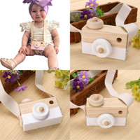 Wholesale Wholesale Baby Toy Camera - Wholesale- New Baby Kids Wood Camera Toys Children Fashion Clothing Accessory Safe And Natural Toys Birthday Educationa Toy Gift SA891777