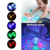 Wholesale Led Pool Pond Lights - Wholesale- Underwater LED Light Pond Swimming Pool Floating Lamp Bulb Child Bath For Babys