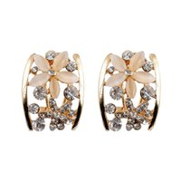 Wholesale Ear Cuffs For Sale - Hot Sale Fashion Clip Earrings Opal Earrings Simple Style New Hollow Out Earrings for Women High Quality