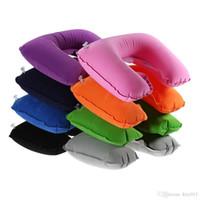Wholesale Child Sleep Mask - Sleeping Eye Mask+Inflatable U Shaped Pillow Air Filling Pillow +Noise-canceling Earplugs 3 in1 Travel Set