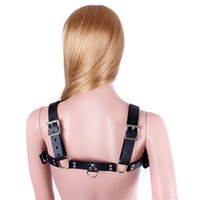SM Sex Female Fetish Bondage Restraints Faux Leather Chest Strap Body Harness Секс-забава для взрослых