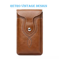 Wholesale Note Holster Wallet - Universal Retro Leather Pouch Waist Bag Belt Clip Holster for iP 6 6s Plus & Sam Galaxy Note 3 4 5 & more