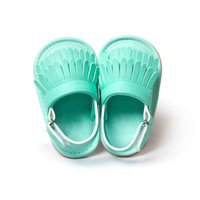 Wholesale Wholesale Baby Walkers Prices - Wholesale- Low Price Infant Baby Girl Tassel Shoes Leather Soft Bottom Crib Anti-slip Shoe First Walkers