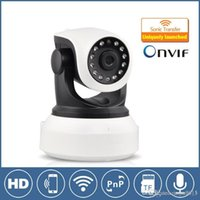 Wholesale Hd Webcam Onvif - High Quality HD 720P Wireless IP Camera Night Vision Wifi Camera IP Network Camera CCTV webcam P2P Onvif home security Camera baby monitor
