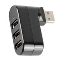 Wholesale Shaped Usb Hub - Like shape 7 High Speed Mini 3 Port USB 2.0 Hub USB Port For Laptop PC Computer Laptop Peripherals Accessories VC626 P18 0.32