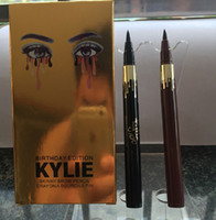 Wholesale Eyeliner Pen White - Kylie Birthday Edition LEO Eye Shadow Eyeliner Pencil Black Liquid Eyeliner Long-lasting Waterproof Eye Liner Pencil Pen Cosmetic Tools