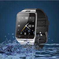 saat senkronize iphone toptan satış-Stokta DZ09 Bluetooth Akıllı İzle Sync SIM Kart Telefon Akıllı İzle iPhone 6 için Artı Samsung S6 Not 5 HTC Android IOS Telefon VS U8 GV18 LX3