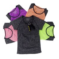 Wholesale Tight Thin T Shirts - Women Dry Quick Sweat Running T shirt Tight Thin Female Sport Fitness T-shirts, Gym Jogging Yoga Short Sleeve Tops Athletic Tees <$18 no tra
