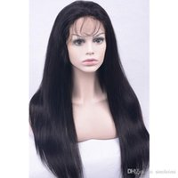 Wholesale Good Hair For Cheap - Indian Full Lace Human Hair Wigs cheap and good quality Full Lace Wig With Baby Hair straight lace wigs for selling