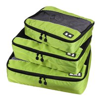 Wholesale packing clothing for sale - 3 Set Unisex Nylon Packing Cubes For Clothes Lightweight Luggage Travel Bags For Shirts Waterproof Duffle Bag Organizers stuff sacks