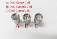 Wholesale Rods For Sale - Hot sale Update Dual wax coils for cannon vaporizer atomizer vape double coil dual coil Quartz Ceramic rod Glass globe metal vase cartomizer