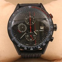 Wholesale Watch 49mm - 2017 Hot sell men sports watches 49mm size Black face Rubber strap watch mens luxury watches