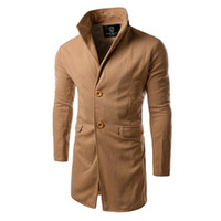 Wholesale Turn Down Overcoat - New Arrival Men Winter Trench Turn Down Collar manteau homme long trench coat men High Quality mens overcoat