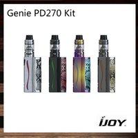 Wholesale Multi Flashlight - iJoy Genie PD270 Kit 600mah 234W Genie PD270 TC Mod 4ml Captain S Tank RGB Backlight and LED Flashlight Function 100% Original