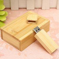 Wholesale Usb Thumb Drive 16gb - Wholesale- Wooden USB 2.0 Flash Drive Pen Drive U Disk Memory Thumb Sticks 16GB Gift
