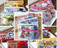 Wholesale Despicable Ruler - new 10set lot kid favorite Despicable Me Frozen spiderman BEN 10 CARS pencil box case pencil+ruler+rubber+notebook+sharpener for kid gift