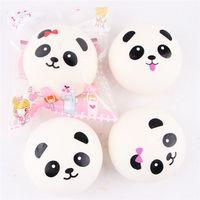 Wholesale Jumbo Panda Squishy Free Shipping - DHL Free Shipping 9.5cm Squeeze Squishy Jumbo Kawaii Squishy Panda Slow Rising Toys For Relaxing Stress Fun Toy