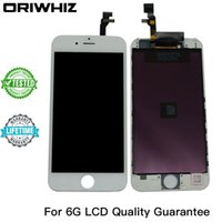 Wholesale Pack Photo - Real Photo Grade AAA Quality for iPhone 6 6G LCD Touch Screen Digitizer Assembly Black and White Color Perfect Packing Mix Color