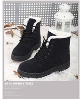 Wholesale Korean Shoes Flat Boots - Foreign students in winter snow boots warm Lady boot women's plus size short tube with the Korean version of shoes factory outlet