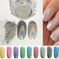 Wholesale Cheap Nail Arts Wholesale - 2016 cheap coulour Nail Glitter Powder Shinning Mirror Glitter Powder Chrome Pigment Nail Art Dust DIY Decoration