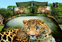 Wholesale Leopard Bedding Sale - Duvet Cover Rushed 1set(4 Pieces) Same As Picture Bed Sheet 2016 Hot Sale Seated Leopard Printed Full Size 3d Reactive 4 Pieces Bedding Sets
