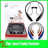 Wholesale S Headphones Blue - HB-S-800 Sports Stereo Bluetooth Wireless HB-S 800 Headset Earphone Headphones for Iphone8 note8 with gift hard box