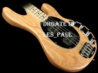 Wholesale bass guitar woods online – design Ash Wood Body Music man Strings Bass Erime Ball StingRay Electric Guitar Natural Finish HH Active Pickup Chrome Hardware In StocK